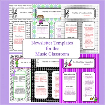 Newletter Templates for Music Class