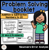 Newman's Error Analysis Problem Solving Booklet   Newman's Prompts