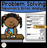 Newman's Error Analysis Problem Solving Worksheet Preview   Newman's Prompts