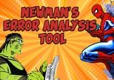 Newman's Error Analysis for Maths - Marvel Superhero Theme