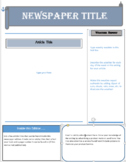 Newpaper Template 2  (distance/remote learning)