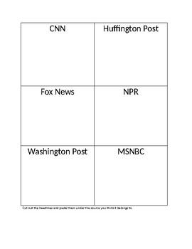 News Bias Activity/ Fake News