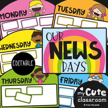 News Day Charts - Editable {Show and Tell Day Charts}