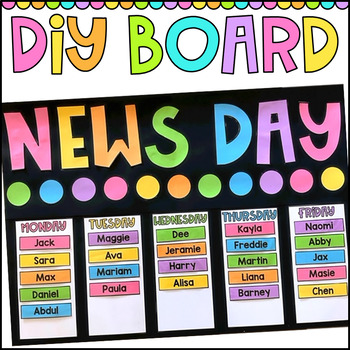 News Day DIY Board - Classroom Decor
