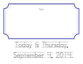 News Flash From Kindergarten September 2014 (Picture Journal)