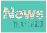 News From Our Classroom Bulletin Board Display Heading