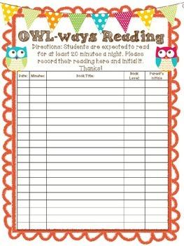 Owlways Reading- Reading Log