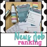 News Job Ranking Worksheet