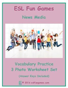 News Media 3 Photo Worksheet Set