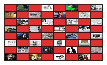 News Media Legal Size Photo Checkerboard Game