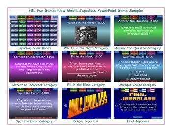 News Media Jeopardy PowerPoint Game