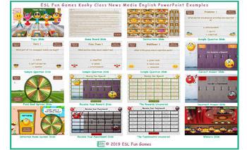 News Media Kooky Class English PowerPoint Game