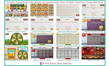 News Media Kooky Class Spanish PowerPoint Game-An Original by Ernesto