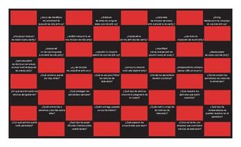 News Media Spanish Checker Board Game
