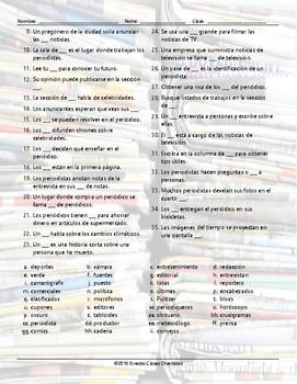 News Media Wacky Trails Spanish Worksheet