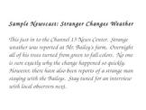 News Report Activity for Reading Street Story The Stranger