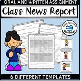 Weekly News Reporter - Oral Presentation Activities with Rubric