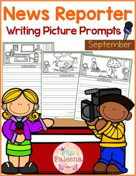 September Writing Picture Prompts - News Reporter
