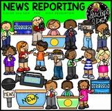 News Reporting Clip Art Bundle {Educlips Clipart}
