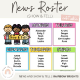 News Roster Show & Tell Display {Editable}