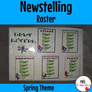 News Roster Spring Theme {Newstelling}