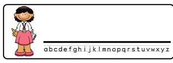 News Theme Desk Nameplates (Set of Four)