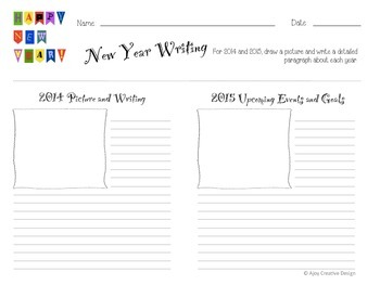 News Year Reflection and Goals Planner and Writing