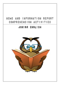 News and Information Report Reading Comprehension Activities