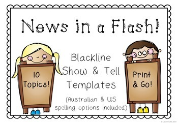 News in a Flash! Blackline Show & Tell Templates