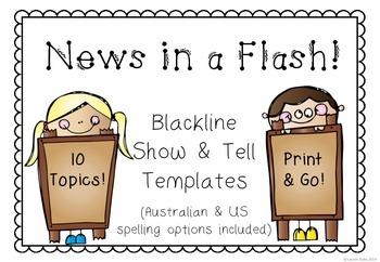 News in a Flash! Blackline Show & Tell Templates