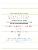 News letter templates and examples