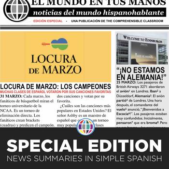 News summaries for Spanish students - April 1, 2019 FREE bonus page