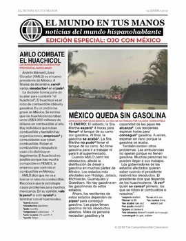 News summaries for Spanish students - FREE Ojo con México Gasolinazo edition