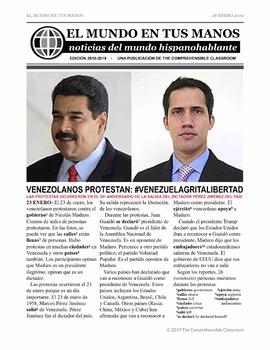 News summaries for Spanish students - January 28, 2019