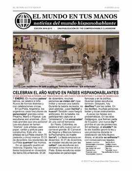 News summaries for Spanish students - January 7, 2019