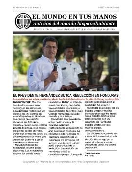 News summaries for Spanish teachers: November 27, 2017