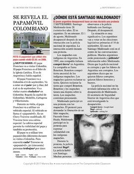 News summaries for Spanish teachers: September 4, 2017