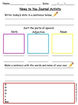 News to You style journal activity