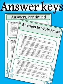 Christmas: WebQuest and Bingo