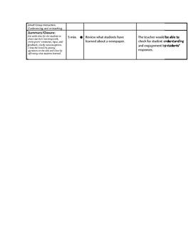 Newscast / Newspaper Unit (Lesson 12) - Newspaper Presentations