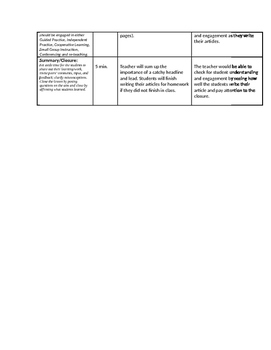 Newscast / Newspaper Unit (Lesson 6)