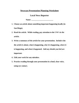Newscast Presentation
