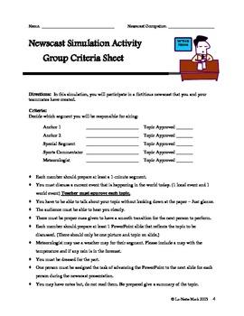 Newscast Simulation Activity
