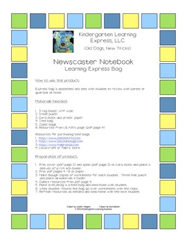 Newscaster Notebook Learning Express Bag