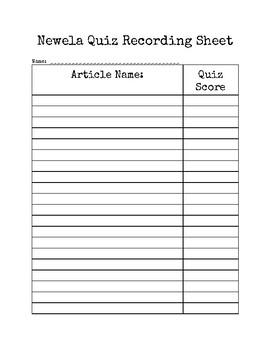 Newsela Quiz Recording