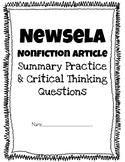 Newsela or any nonfiction article- Summarizing & Beyond/Ab