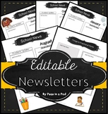 Newsletter Template Editable Monthly