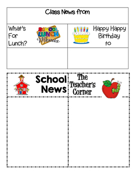Newsletter :  2nd Grade Our Week at a Glance EDITABLE