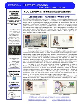 Newsletter - Marches on Washington, 1963 & 1913