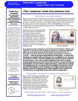 Newsletter - James Madison & Separation of Powers